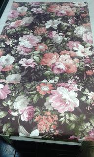 tkanina bawełniana na obicie fotela, tkanina w kwiaty
