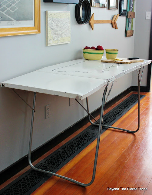 sturdy vintage table upcycled