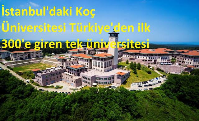 Türkiye'den ilk 300'e giren tek üniversite oldu