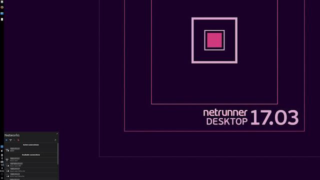 Kubuntu 17.04では接続できなかったWiFiも、Netrunner 17.03では難なく接続できました。