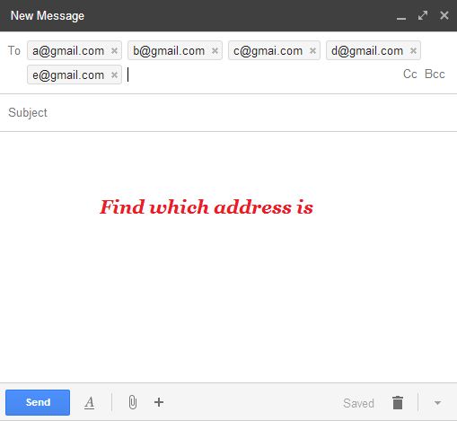 Find social profiles by email address