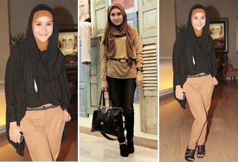 contoh baju hijab casual wanita gemuk