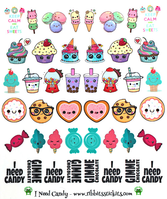 Ribbits Stickits I Need Candy Waterslide Decal