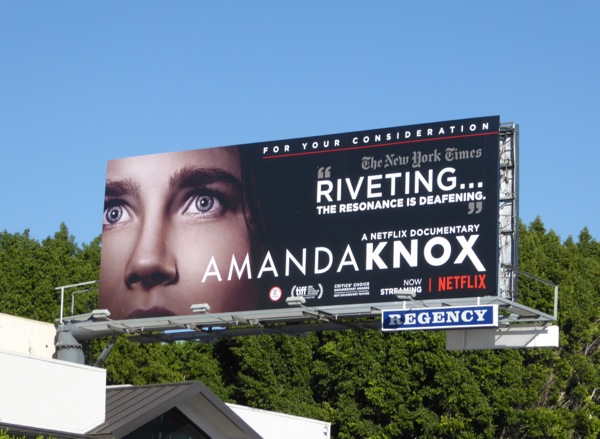 Amanda Knox For your consideration billboard