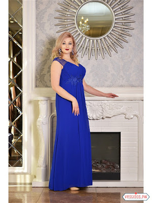 Vestido azul de boda civil