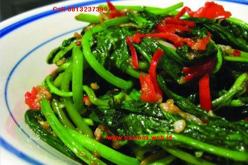 Resep tumis kangkung nasi box kawah putih ciwidey
