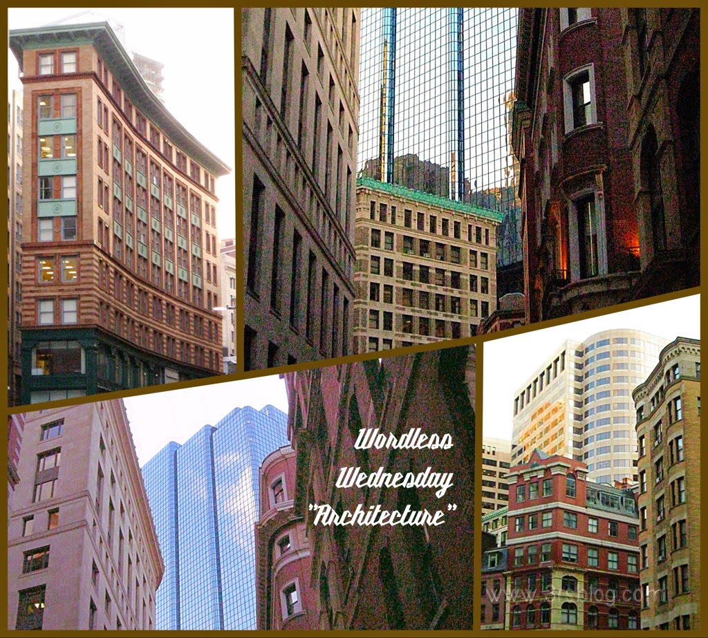 Boston building collage on The 3 Rs Blog--WordlessWednesday