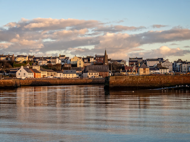 Photo of Maryport from the basin as we returned just before sunset on Monday