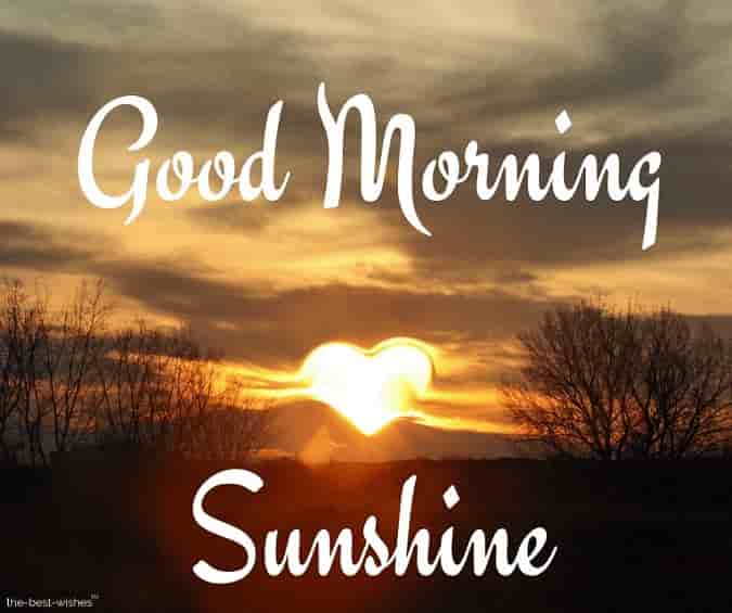 good morning sunshine with heart sun