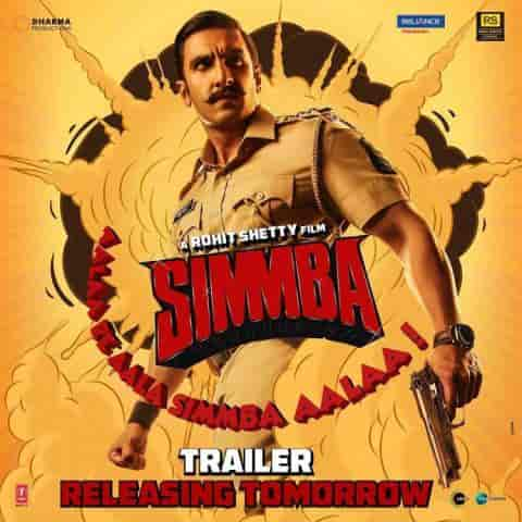 Simmba: Ranveer Singh new  Movie poster