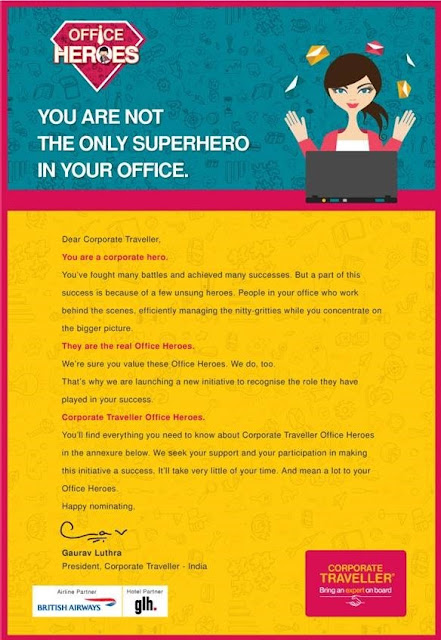 Corporate Traveller Announces 'Office Hero' Campaign in association with British Airways and GLH Hotels