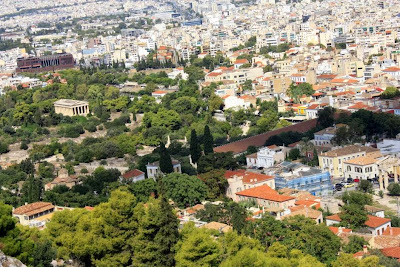 Ancient Agora of Athens from the Acropolis