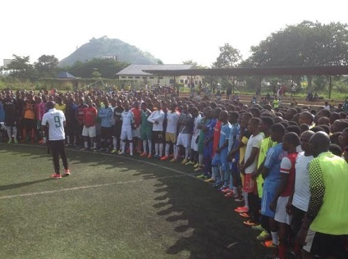 U-17 Team Screening: See Photo of Over 3000 Players That Show Up