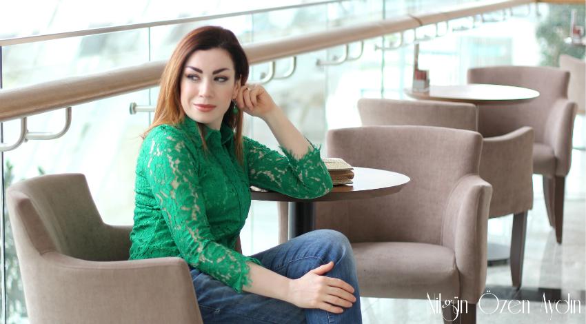 alışveriş-moda blogu-Rosewholesale-Yeşil dantel gömlek