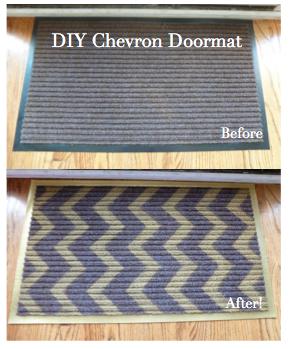 DIY Night: Chevron Doormats | Design Improvised