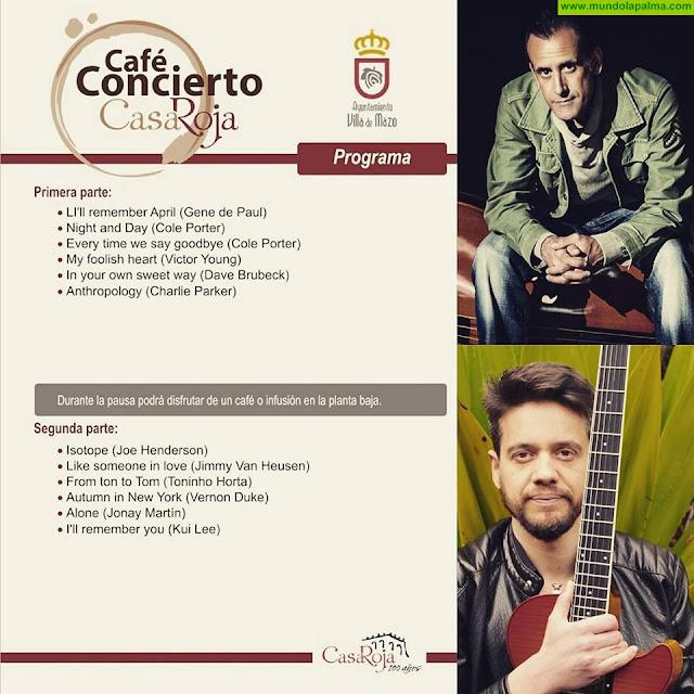 Carlos Costa y Jonay Martín protagonizan la próxima cita musical del ciclo Café Concierto