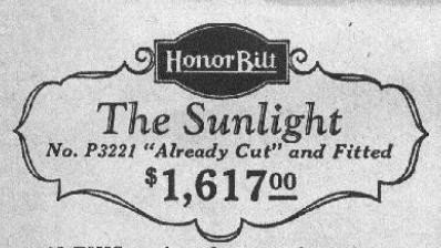 sears sunlight price 1929
