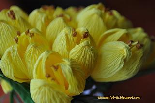 crepe crocuses, kwiaty z bibuły, blumenfabrik
