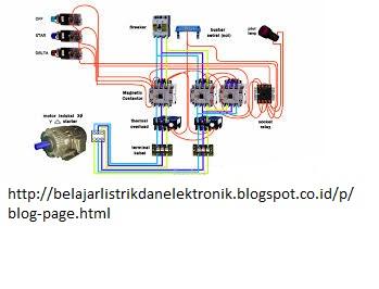 Rangkaian Dol Auto Star Delta Dan Soft Starter Pada Motor Listrik