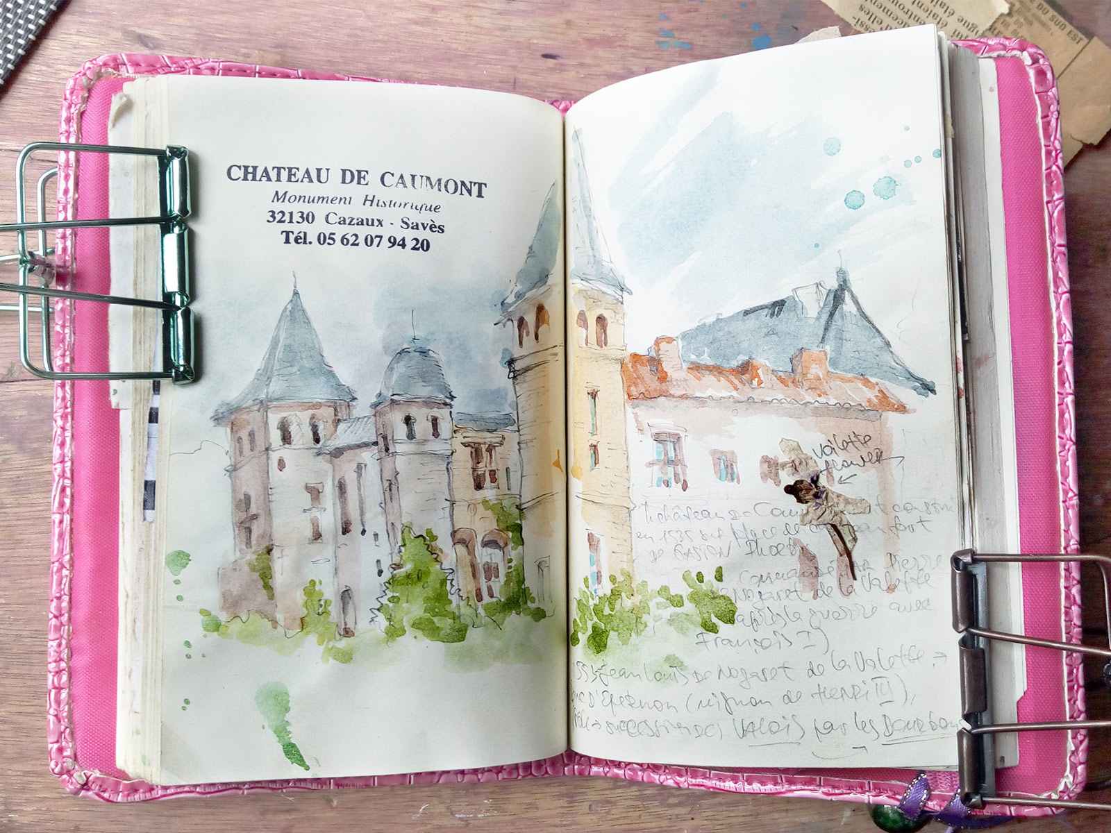 Chateau de Caumont Sketchbook