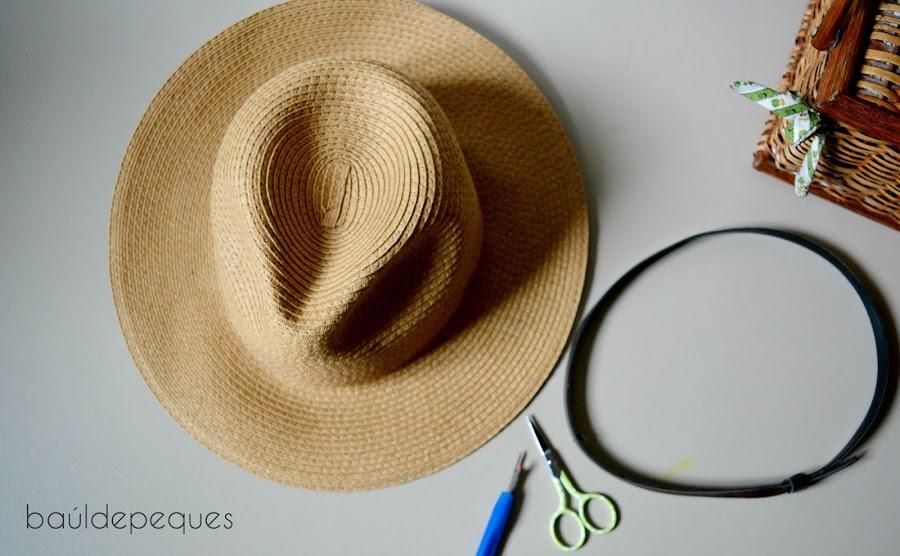 personalizar un sombrero de paja