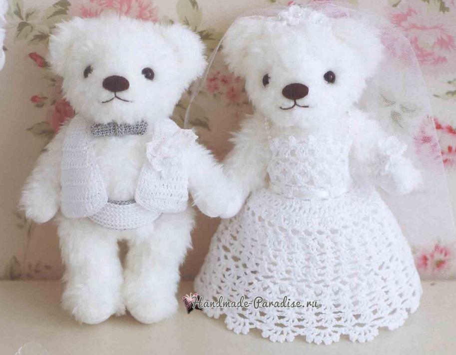 Схемы вязания крючком свадебной жилетки и платья (3)