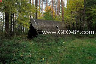 Братково. Шалаш в лесу у полукапонира для культурного отдыха