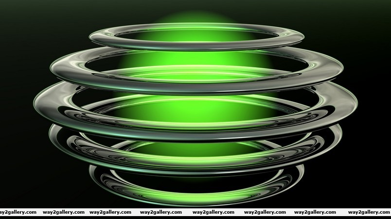 Green abstract ball wallpaper
