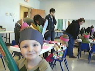 Thanksgiving Crafts Footprint Headband Native American Hat Craft
