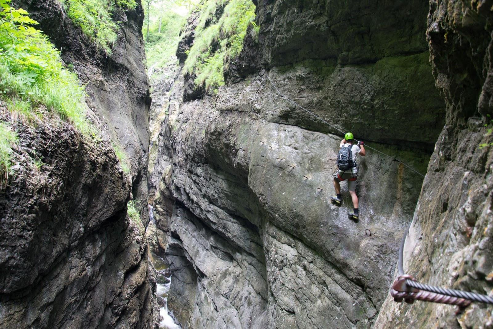 Klettersteig Postalmklamm : Mało za duże podróże via ferrata postalmklamm austria
