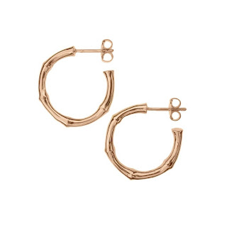 Jewellery Every woman Should Own: Dinny Hall Bamboo Rose Gold Hoop Earrings