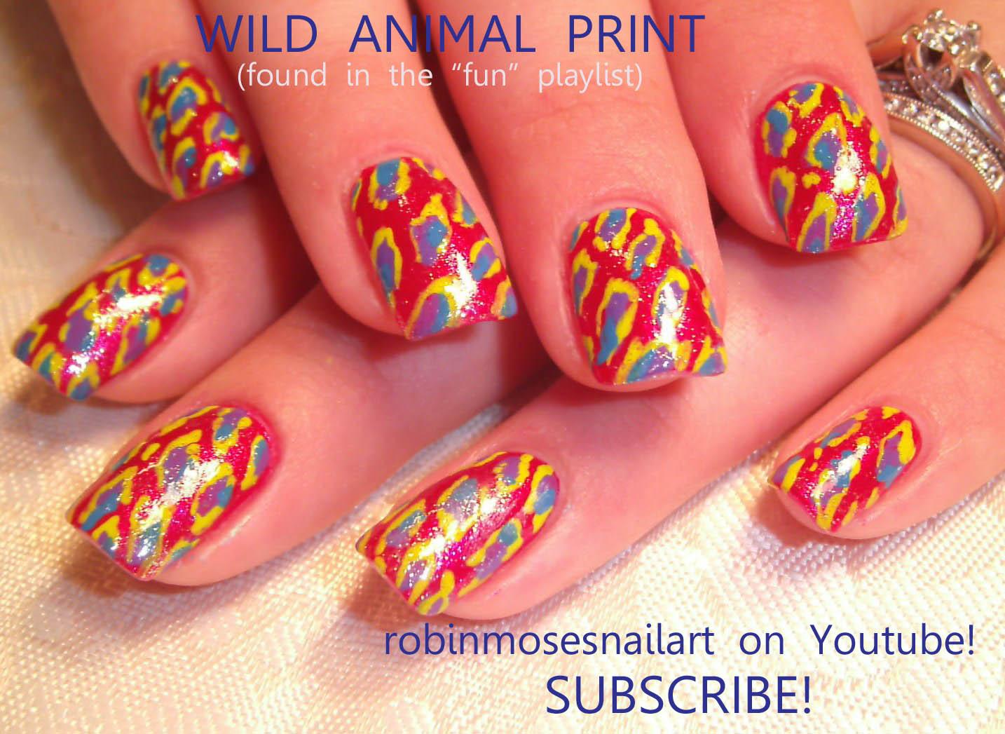 Nail Art By Robin Moses Pink Flame Nail Silver Flame Nail Im