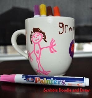painted mugs with sharpies valentines day gifts kids can make