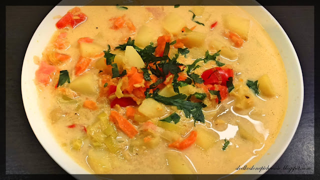 Zupa z ciecierzycy i czerwonej soczewicy