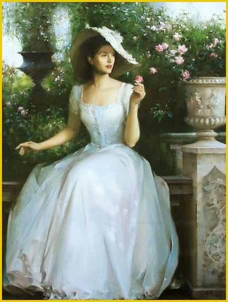 b49c274724f Il suo stile è stato paragonato al lavoro di John Singer Sargent. Il  soggetto preferito dell artista cinese sono le donne