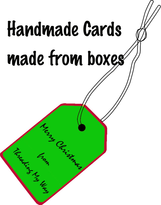 Make gift tags and Christmas cards from old cereal boxes ~ Threading My Way