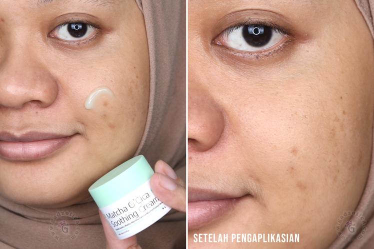 hasil pemakaian eBright Skin Matcha Cream