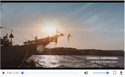 Video Lagu Untukmu Indonesia diciptakan oleh Guruh Soekarno Putra