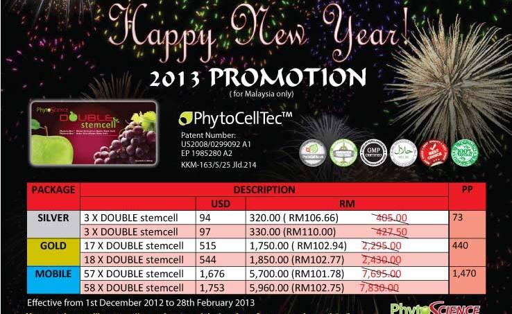 Promosi Phtyto Science Double Stem Cell Phyto Science