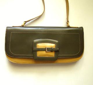 sac à main en cuir bicolore coccinelle - sac à main coccinelle