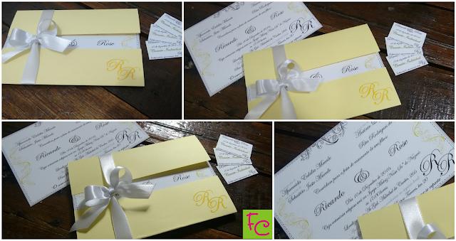 Convite Casamento - Com Envelope Aberto.