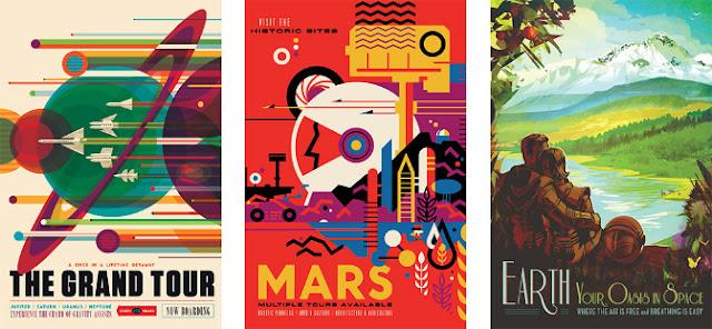 Posters de viagem espacial - NASA