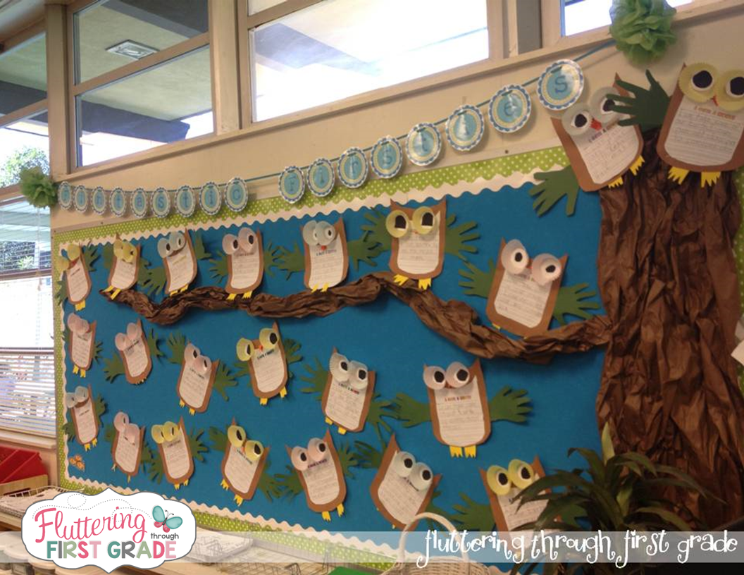 Whooo Loves the Earth? bulletin board for Earth Day