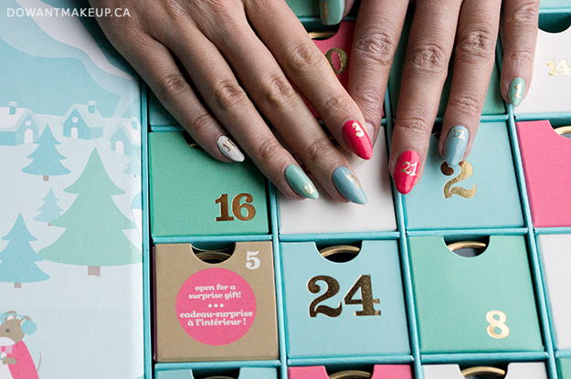 David's Tea 24 Days of Tea Advent Calendar 2016 nail art