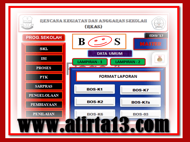Aplikasi RKAS Versi 17 Format Excel