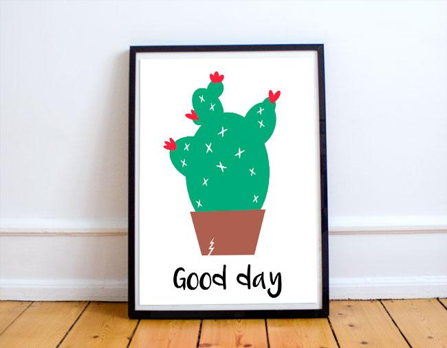 lamina-cactus-para-imprimir-gratis