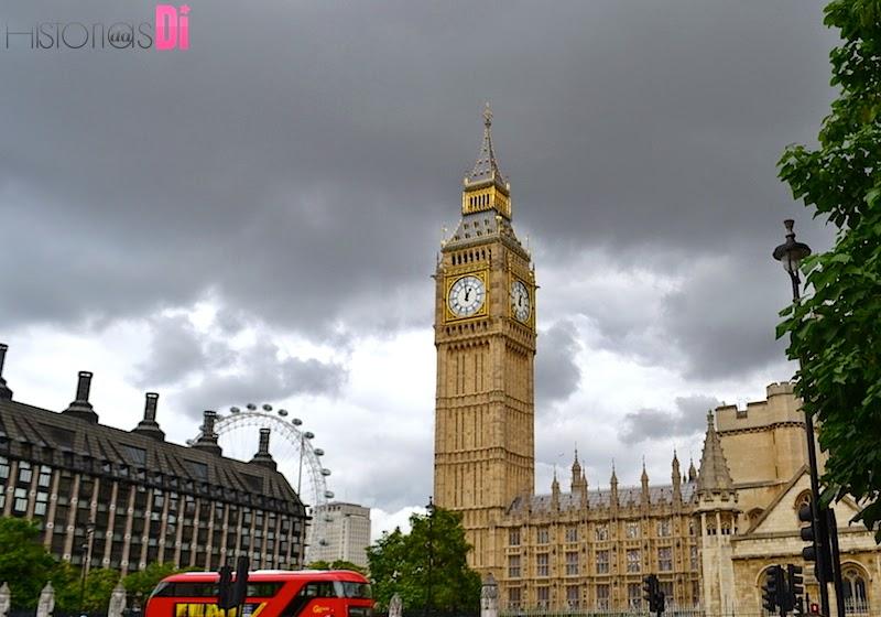 O Big Ben e o ônibus de 2 andares