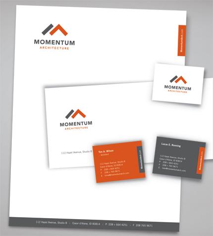 Thiết kế in ấn tiêu đề thư đẹp giá rẻ tại Hà Nội Momentum