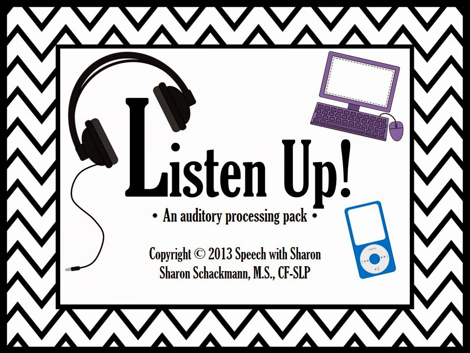 Speech with Sharon: Listen Up! An Auditory Processing Pack