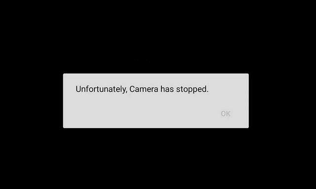 حل مشكلة توقف الكاميرا في الاندرويد